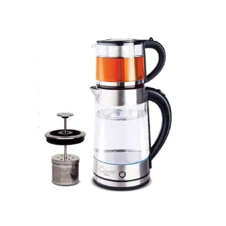 چای ساز کویین هوم همراه با دمنوش ساز مدل QH-8050