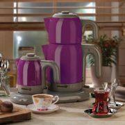 چای و قهوه ساز کرکماز Korkmaz مدل Mia کد A353-07 بنفش