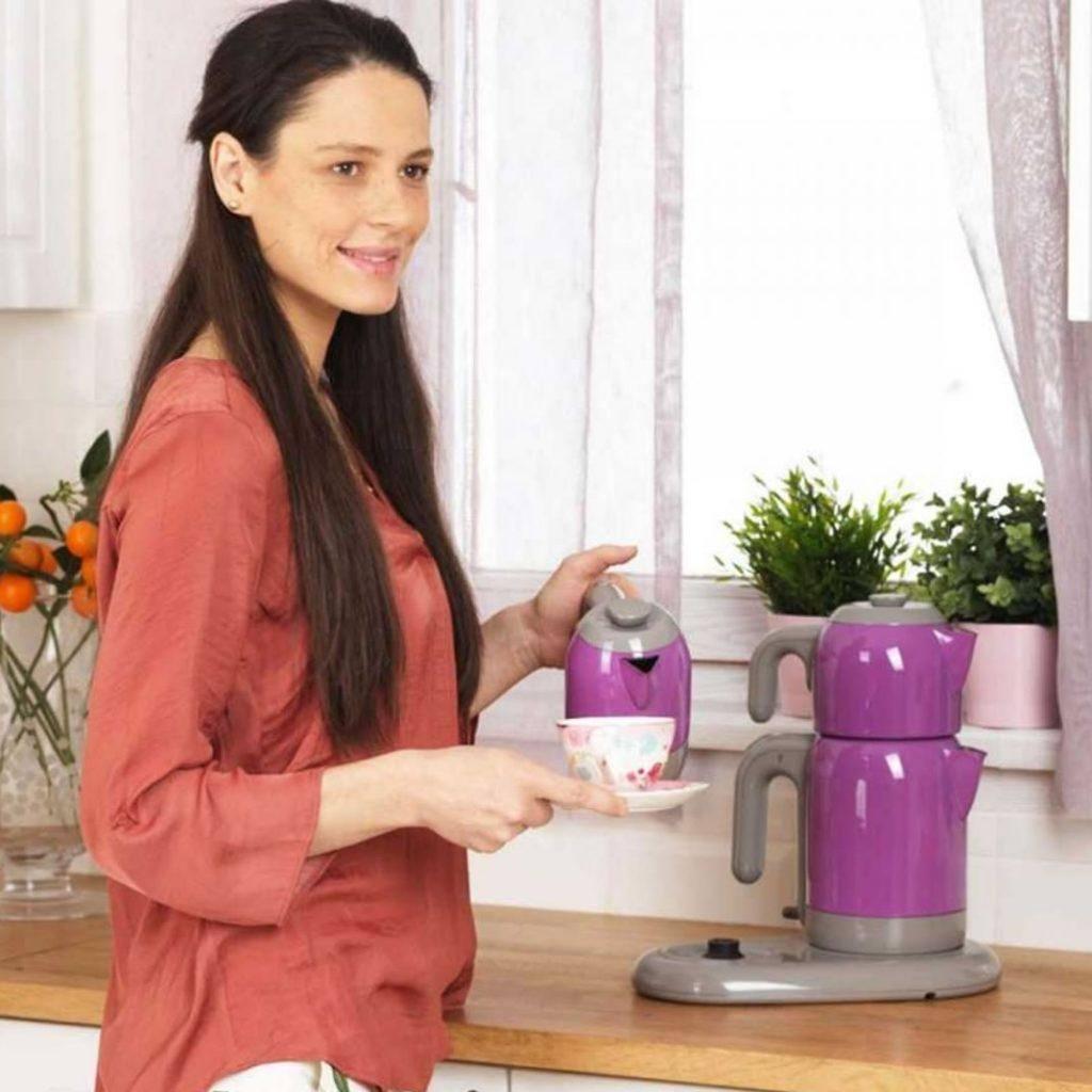 چای و قهوه ساز کرکماز Korkmaz مدل Mia کد A353-02 صورتی