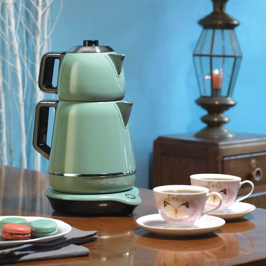 چای ساز کرکماز Korkmaz مدل Demiks کد 01-A332 سبز