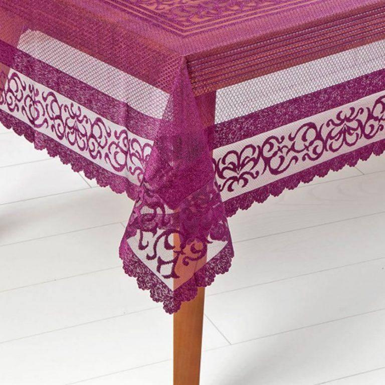 رومیزی توری kashmirHome مدل الیزا رنگ بنفش