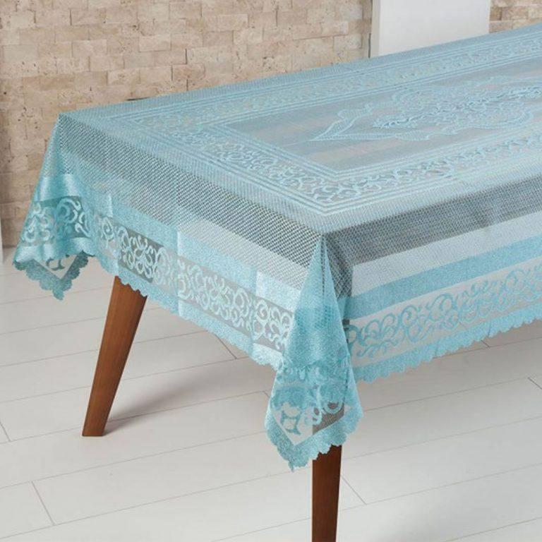 رومیزی توری kashmirHome مدل الیزا رنگ آبی