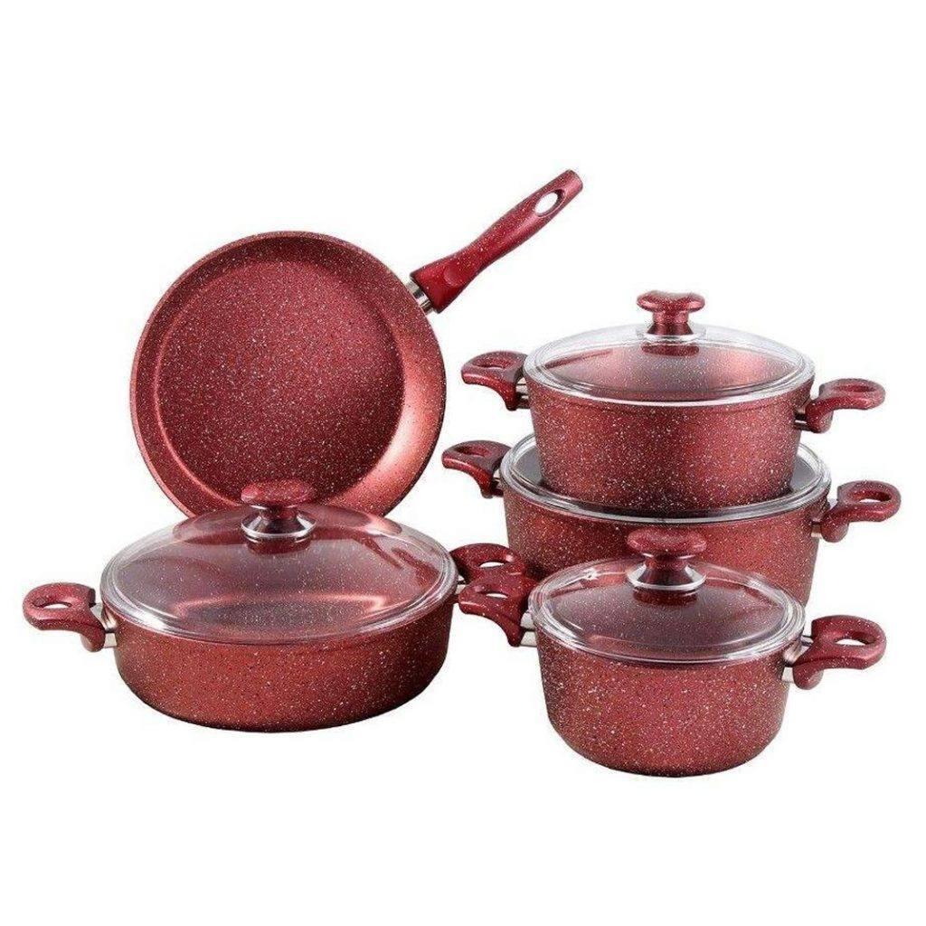 سرویس پخت و پز 9 پارچه زوپینی مدل NG9PC قرمز
